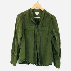 Point Sur by J. Crew Army Green Buttoned Jacket